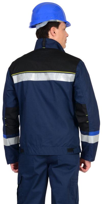 Куртка рабочая летняя мужская 020 синяя/васильковая