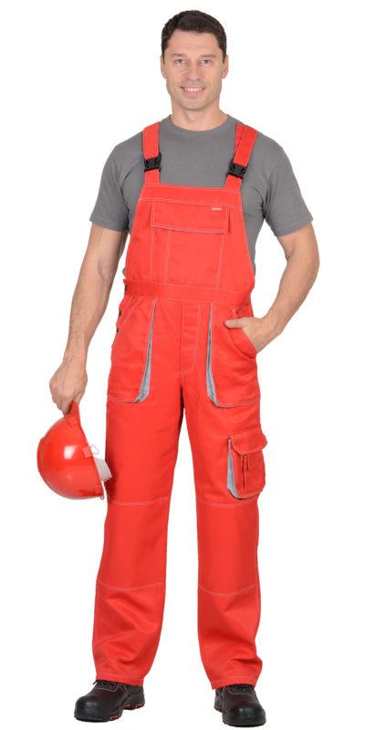 Полукомбинезон рабочий летний мужской 923 красный