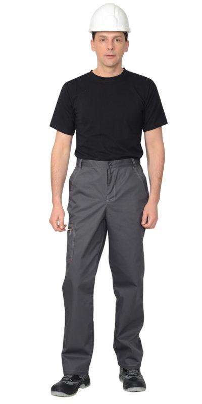 Брюки рабочие летние мужские 883 с боковыми карманами серые