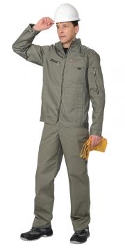 Костюм мужской рабочий летний с полукомбинезоном 428 бежевый