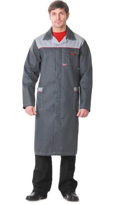 Халат рабочий мужской 389 серый