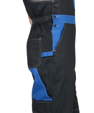 Полукомбинезон рабочий летний мужской 924 черный/васильковый