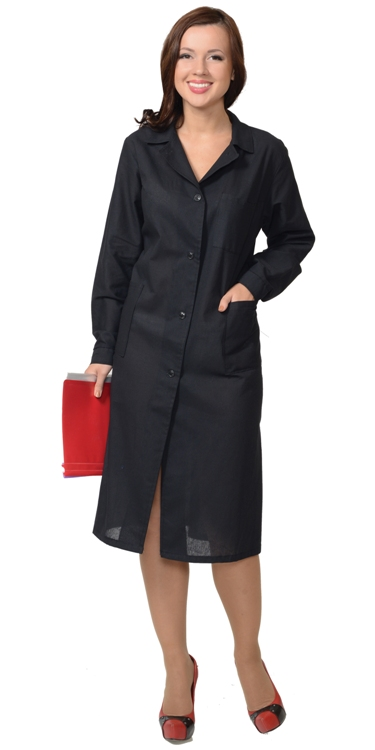 Халат рабочий женский 01561 черный