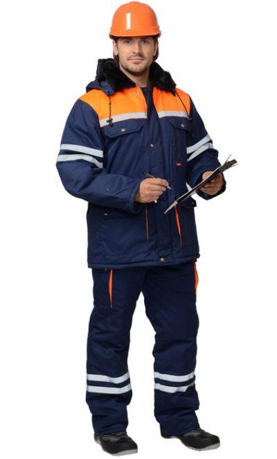 Костюм рабочий зимний с полукомбинезоном 535