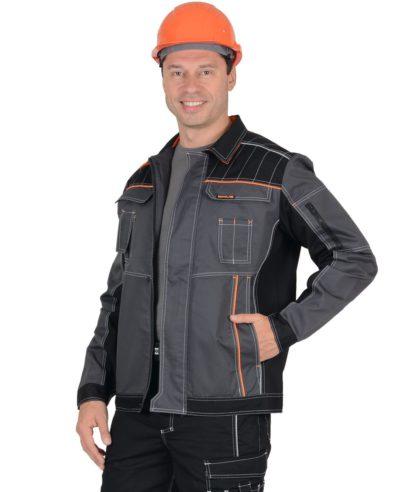 Куртка рабочая летняя мужская 014 серая