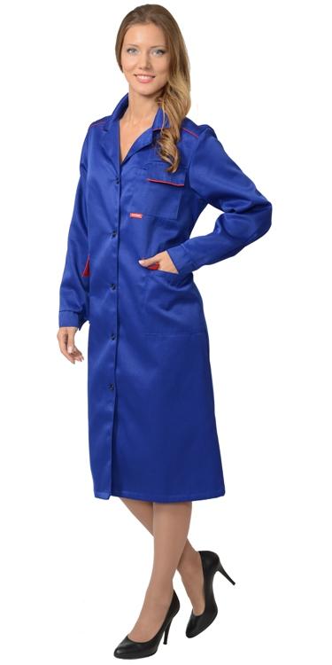 Халат рабочий женский 868 синий