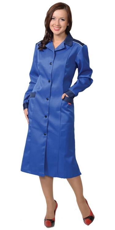 Халат рабочий женский 588 синий