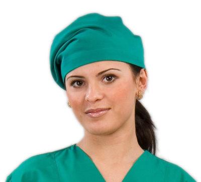 Колпак медицинский женский зеленый