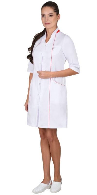 Халат медицинский женский белый «Муза»