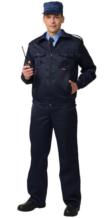 Костюм охрана мужской черный 02-43