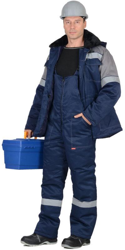 Костюм зимний рабочий с полукомбинезоном 102