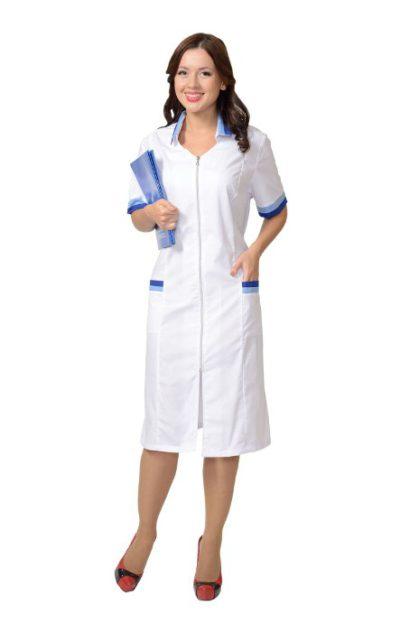 Халат медицинский женский белый Н013-13