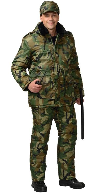 Костюм охранника мужской зимний камуфляж 02-52