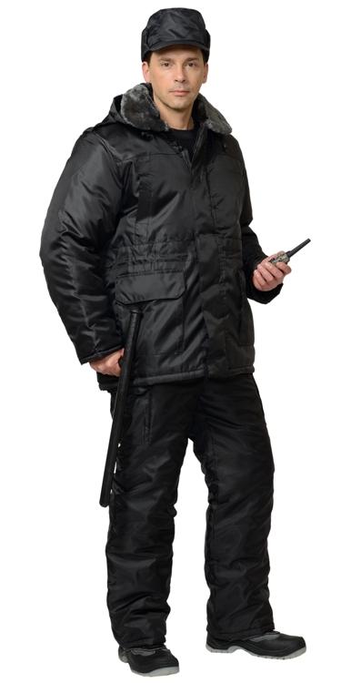 Костюм охранника зимний черный 02-50