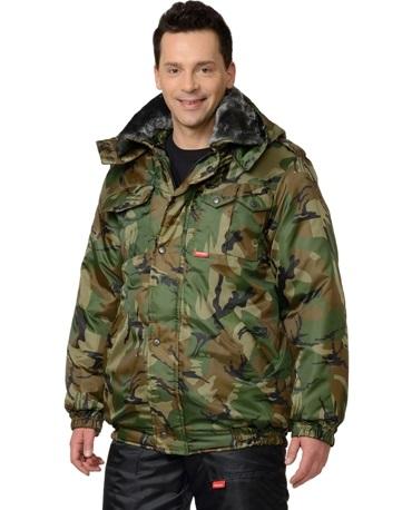 Куртка охранника зимняя камуфляж 02-54