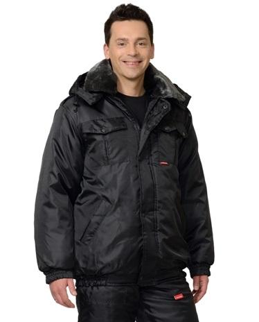 Куртка для охраны зимняя мужская черная 02-53