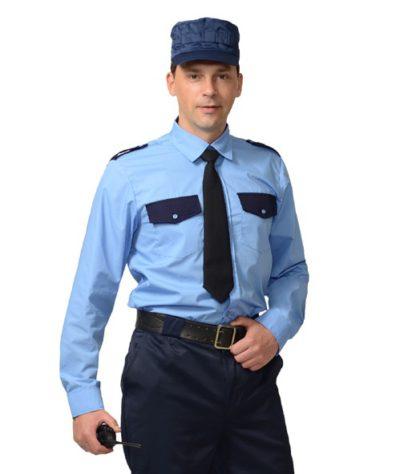 Рубашка охранника мужская длинный рукав