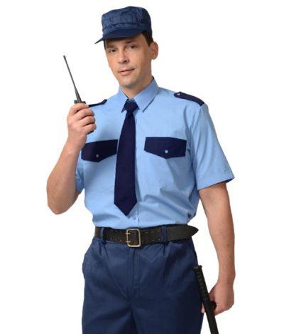 Рубашка охранника мужская короткий рукав