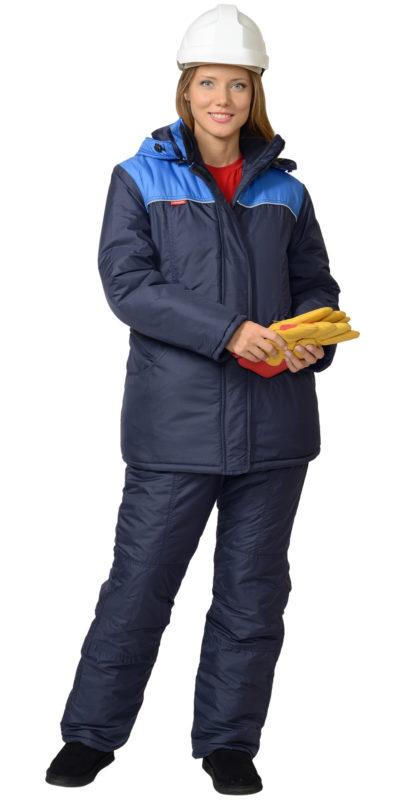 Костюм женский 00029 куртка с полукомбинезоном