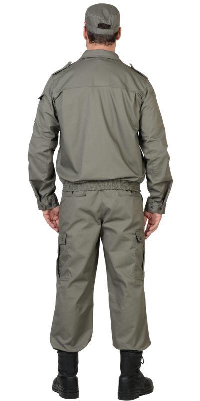 Костюм охранника мужской серый  02-48