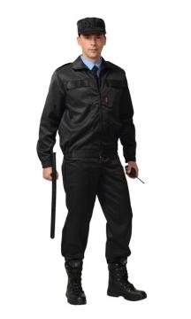 Костюм охранника летний мужской черный 02-44