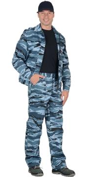 Костюм охранника летний камуфляж голубой 02-45