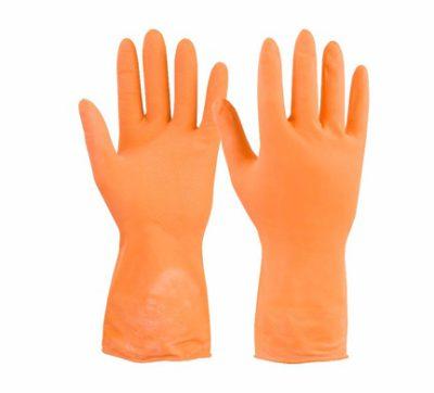 Перчатки хозяйственные резиновые