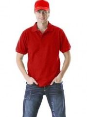 Рубашка-поло бордовая