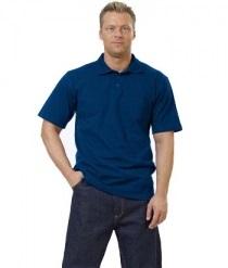 Рубашка-поло темно-синяя