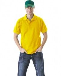 Рубашка-поло желтая