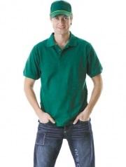 Рубашка-поло зеленая
