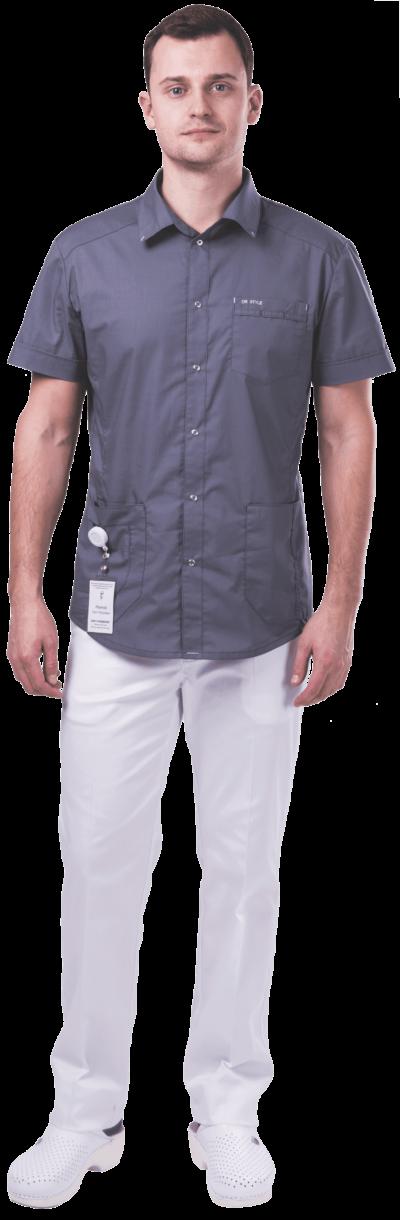 Блуза медицинская мужская ЛУ34