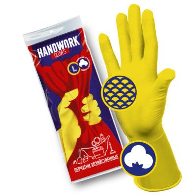 Перчатки хозяйственные латексные HANDWORK