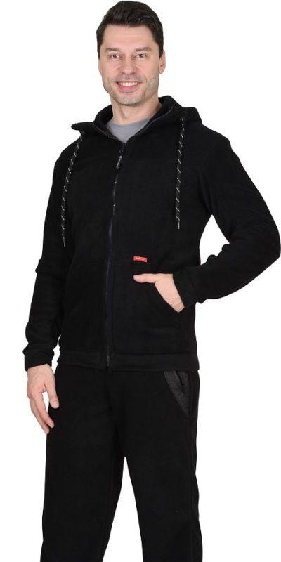 Куртка флисовая черная