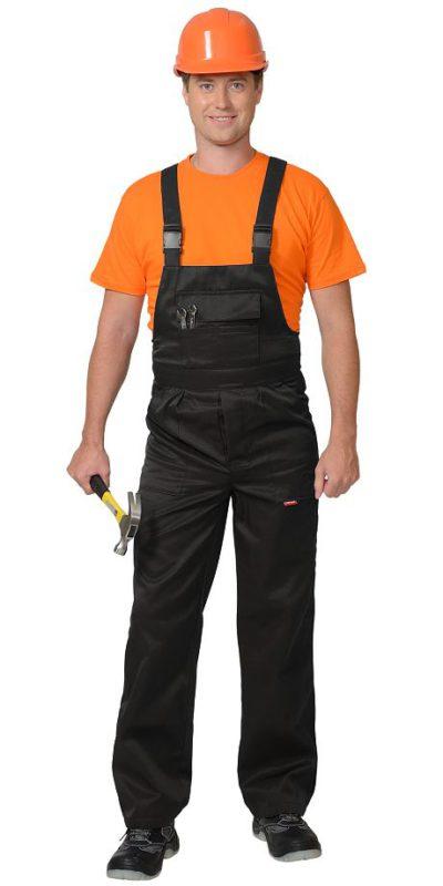 Полукомбинезон рабочий летний мужской 938 черный