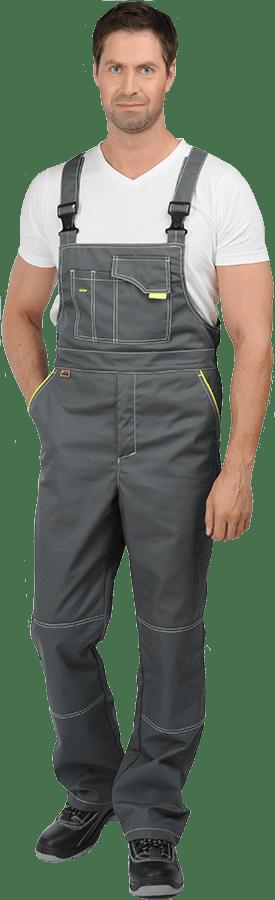 Костюм мужской летний с полукомбинезоном «Турбо» серый