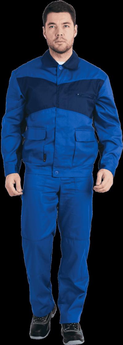 Костюм мужской летний с брюками «Специалист» васильковый/синий