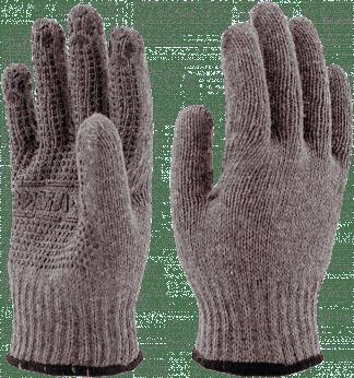 Перчатки полушерстяные ЗИМА с ПВХ