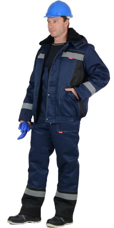 Костюм рабочий зимний с полукомбинезоном «Мастер Д»